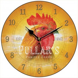 Pullar's Poultry Feed Wall Clock 28.5cm