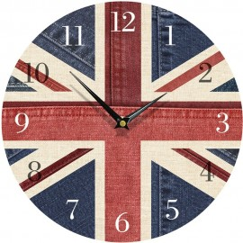 Denim Union Jack Wall Clock 28.5cm