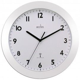 Cadiz White Radio Controlled Wall Clock 25.5cm