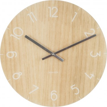 Medium Wood Effect Glass Wall Clock 40cm