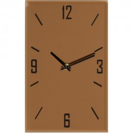 Glass Rose Gold Oblong Wall Clock 30cm