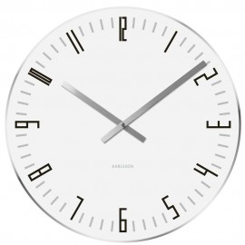 Slim Index White Wall Clock 40cm