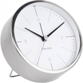 Normann White Alarm Clock 10cm