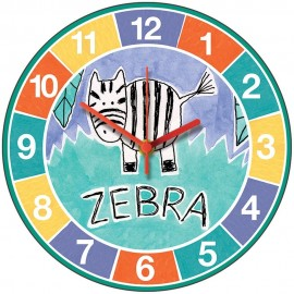 Perkins & Morely Jungle Friends Zebra Wall Clock 28.5cm