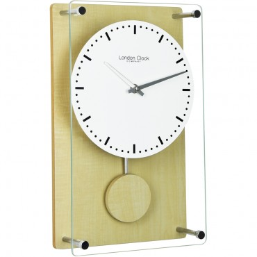 Light Wood Pendulum Clock 35cm