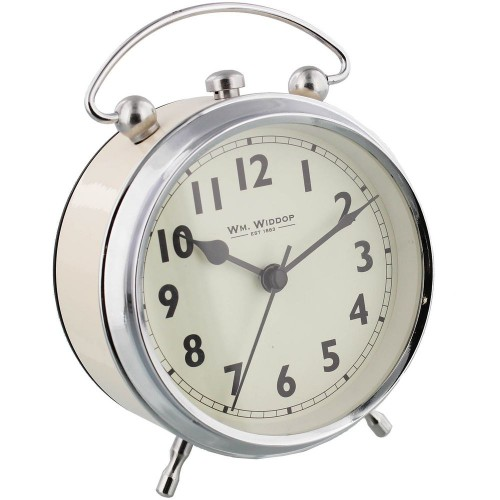 Alarm Clock Arabic Dial - Cream 11.5cm
