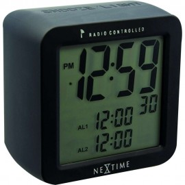 Radio Controlled Dual Alarm Clock With Adjustable Snooze 9.5cm