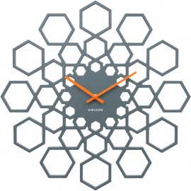 Sunshine Hexagon Wall Clock 48cm