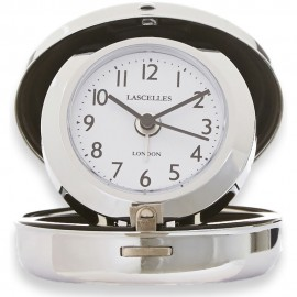 Compact Chrome Travel Alarm Clock 7cm