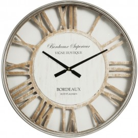 Metal Wall Clock with Cut Out Shabby Chic Dial 60cm
