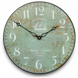 Tea Importers Wall Clock 36cm