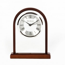 Arched Mirror Glass Mantel Clock 14cm