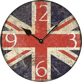 Shabby Chic Union Jack Wall Clock 36cm or 45cm