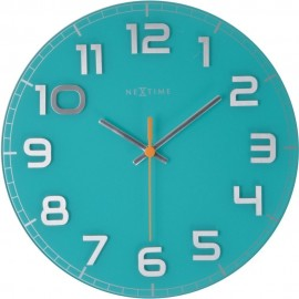 Classy Turquoise Wall Clock 30cm
