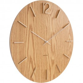 Meek Mdf Light Wood Veneer Wall Clock 50cm