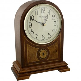 Wooden Barrister Mantel Clock West,4x4,Ave Marie 20.5cm