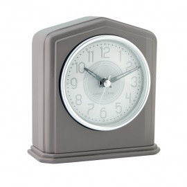 Grey Piano Finish Mantel Clock 14cm