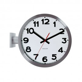Double Sided Numbers Wall Clock 38cm