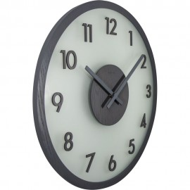 Frosted Wood Wall Clock 50cm