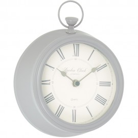 Harriet Wall Clock Soft Grey 19.5cm
