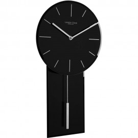 Black Glass Pendulum Clock 47.5cm