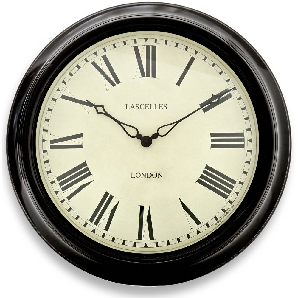 Black Station Wall Clock 45 5cm