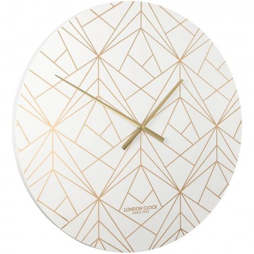 Vector White & Champagne Wall Clock 60cm