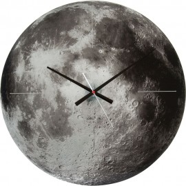 Glass Moon Wall Clock 60cm