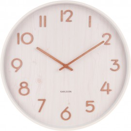 Pure Large Basswood White Wall Clock 60cm