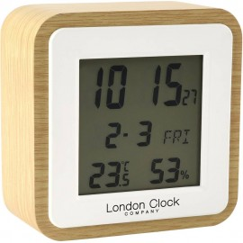 Light Wood Alarm Clock 9cm