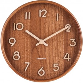 Pure Small Dark Basswood Wall Clock 22cm