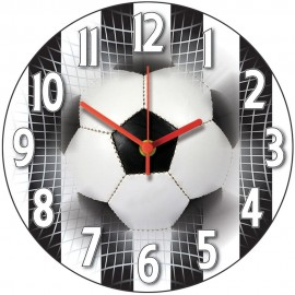 Black And White Stripes Football Wall Clock 28.5cm