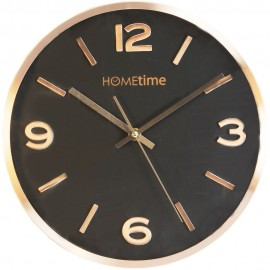 Aluminium Wall Clock Copper Finish Black Dial 30cm