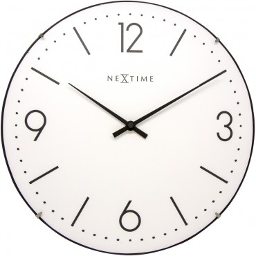 Basic Dome White Wall Clock 35cm