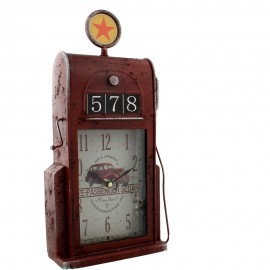 Metal Mantel Clock - Petrol Pump 17cm