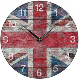 Shabby Chic Union Jack Wall Cock 28.5cm
