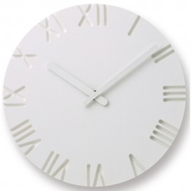 Small Carved Roman Wall Clock 24cm