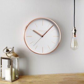 Artemis Wall Clock Copper 30cm