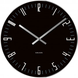 Slim Index Black Wall Clock 40cm
