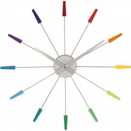 Rainbow Spoke Wall Clock 58cm