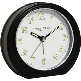 Black Analogue Alarm Clock 11.5cm