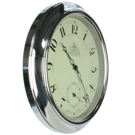 Chrome Station Wall Clock 45.5cm