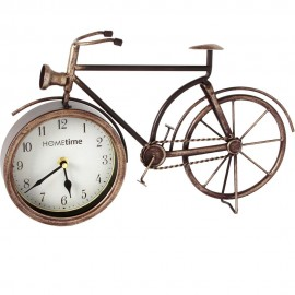 Metal Mantel Clock - Bicycle Arabic Dial 38.5cm