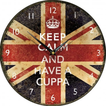 Keep Calm And Have A Cuppa Wall Clock 28.5cm