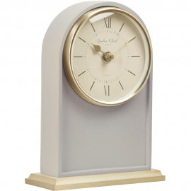 Ivy Grey Mantel Clock 18.5cm