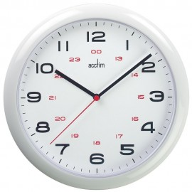 Aylesbury White Wall Clock With 24 Hour Display 25.5cm
