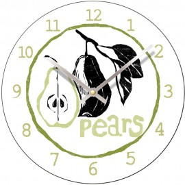 Perkins & Morely Tooty Frooty Pears Wall Clock 28.5cm