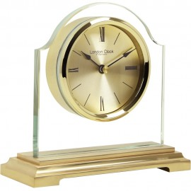 Gold Break Arch Mantel Clock 15cm