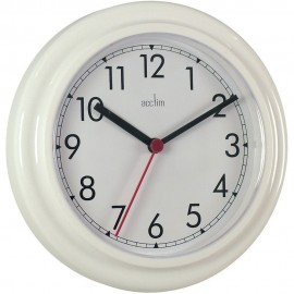 Stratford White Wall Clock 23cm