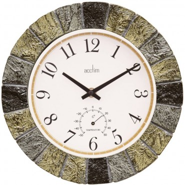 Bowfell Outdoor Clock With Temperature Dial 26cm